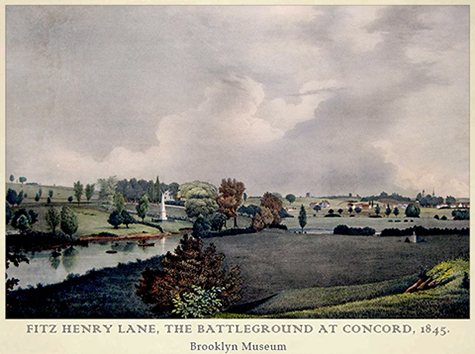 Battleground at Concord, Mass., Fitz Henry Lane