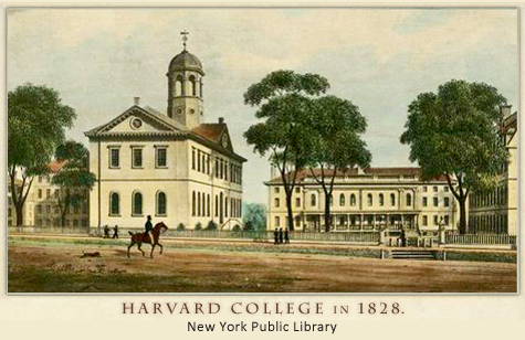 Harvard College in 1828.