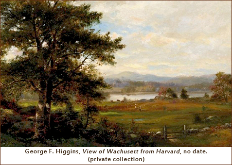 George F. Higgins, View of Wachusett from Harvard, no date