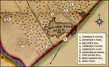Walden Pond Mapping Thoreau Country