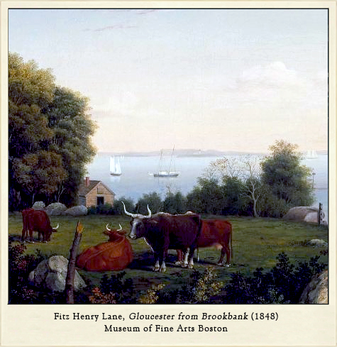 Fitz Henry Lane, Gloucester from Brookbank, 1848.
