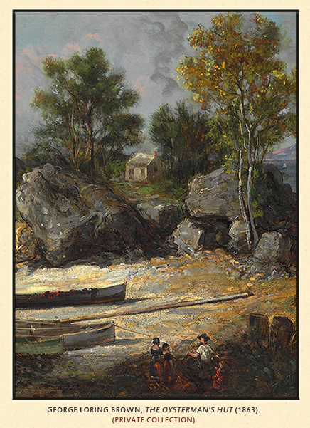 Oysterman's Hut, George Loring Brown, 1863