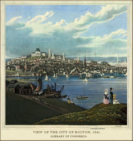 View of Boston, 1841