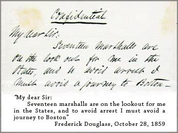 Letter from Frederick Douglass to Charles Slack, 1859