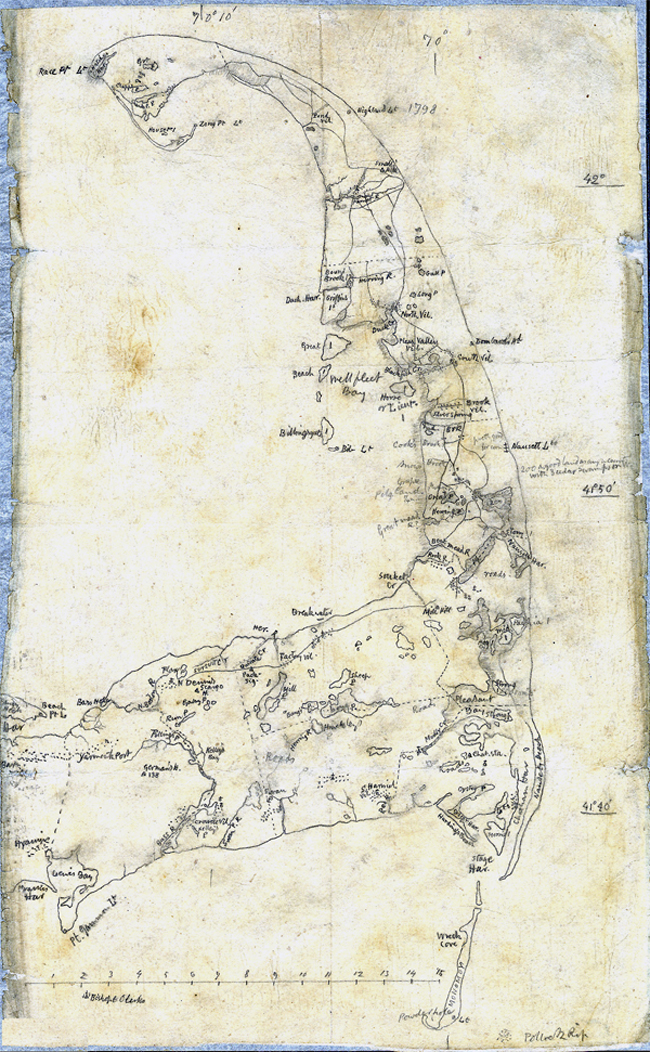 Thoreau's map of Cape Cod