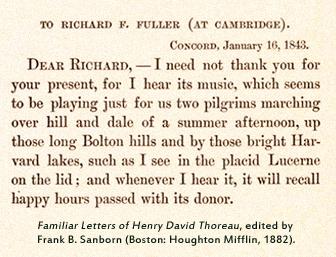 Letter from Thoreau to Richard Fuller, 1843