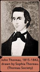 John Thoreau, 1815-1842, drawn by Sophia Thoreau