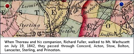 Route of Thoreau's Walk to Wachusett