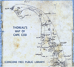 Thoreau's map of Cape Cod(detail)