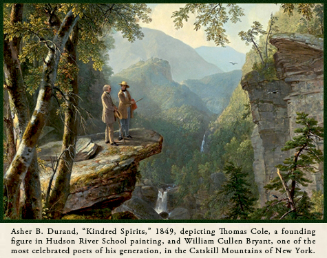 Asher B. Durand, Kindred Spirits, painter and poet
