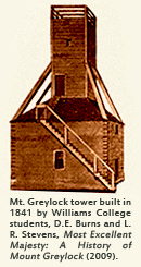 Wooden Tower on Mt. Greylock, circa 1841.