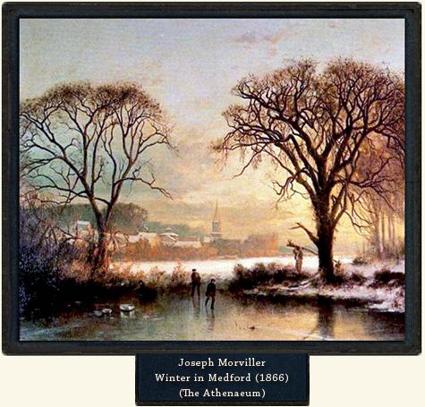 Joseph Morviller, Winter in Medford, 1866.
