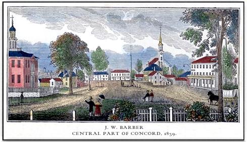 J.W. Barber, Concord Center, 1839