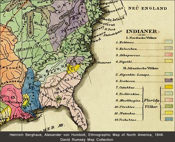 Alexander von Humboldt Ethnographic map of North America