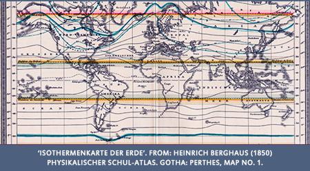 Humboldt's  'Isothermenkarte der Erde,' Heinrich Berghaus (1850)