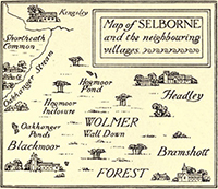 Map of Selborne, Gilbert Whilte