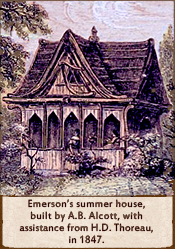 Emerson's summer house, built by AB Alcott, 1847.