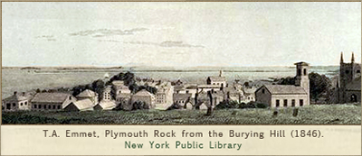 Plymouth Rock from the Burying Hill, 1846.