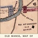 Centennial Map of Concord showing Old Manse